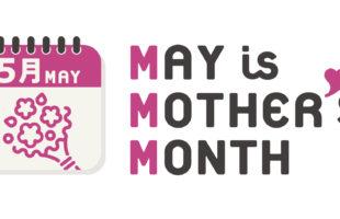 5月は母の月のデザインイメージ