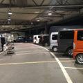 大寒の朝 花市場駐車場