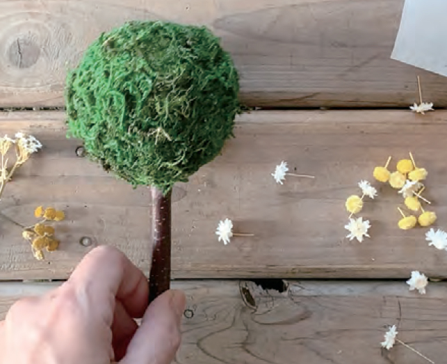 小花を接着していきます